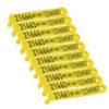 Product photo: Micro ear tags stripe yellow