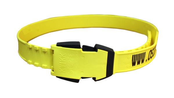 Produktfoto: KVIKK storfeklave kort gul med preging
