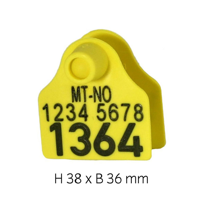 Produktfoto: Combi Pig gul hulldel og tappdel, med preging